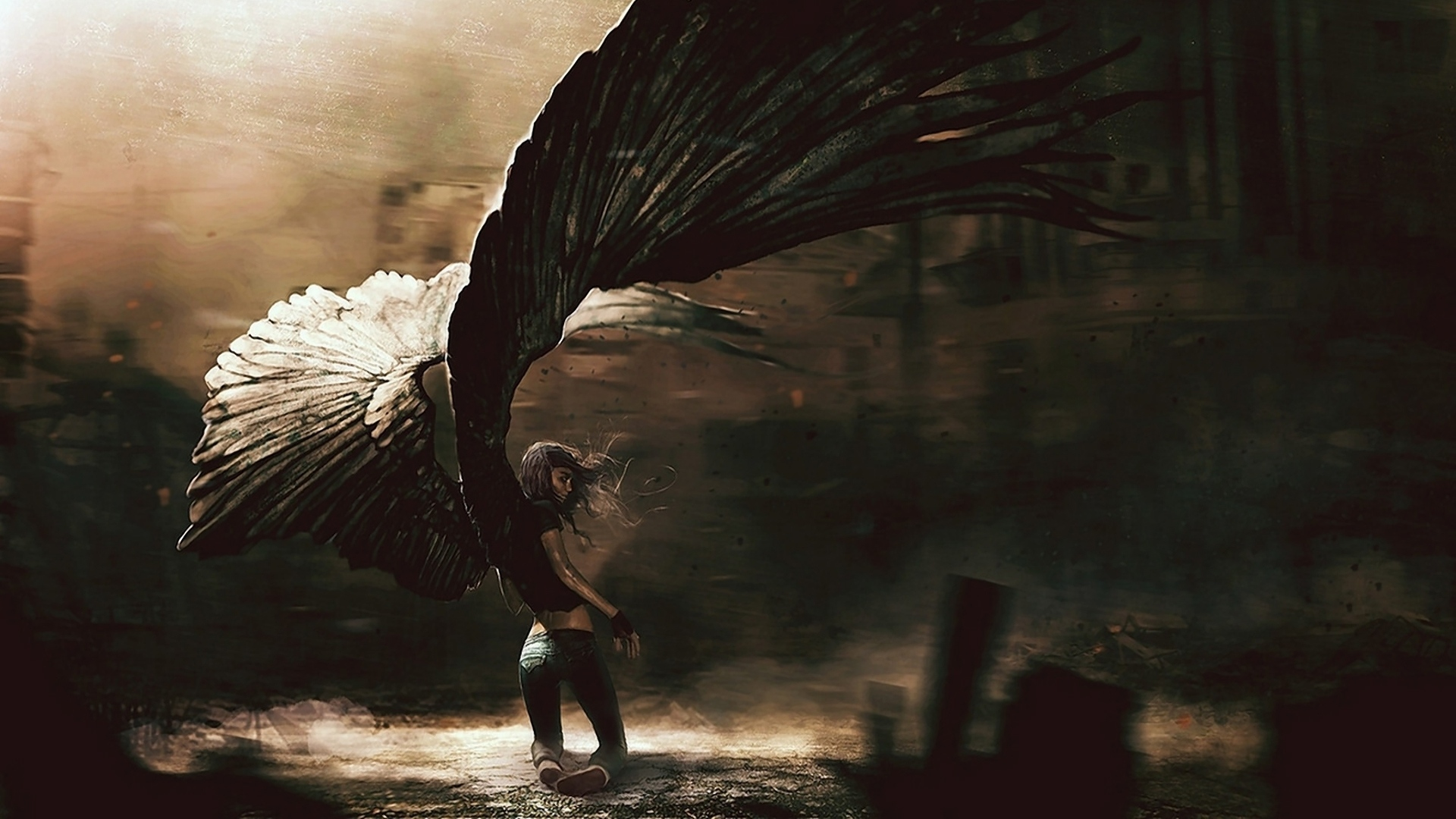dark angel full hd wallpaper and background image