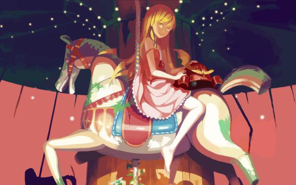 Anime Monogatari (Series) Long Hair Blonde Yellow Eyes Carousel Shinobu Oshino HD Wallpaper   Background Image