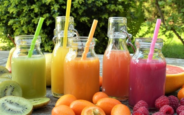 Food Smoothie Kumquat Raspberry Kiwi Fruit Drink HD Wallpaper | Background Image