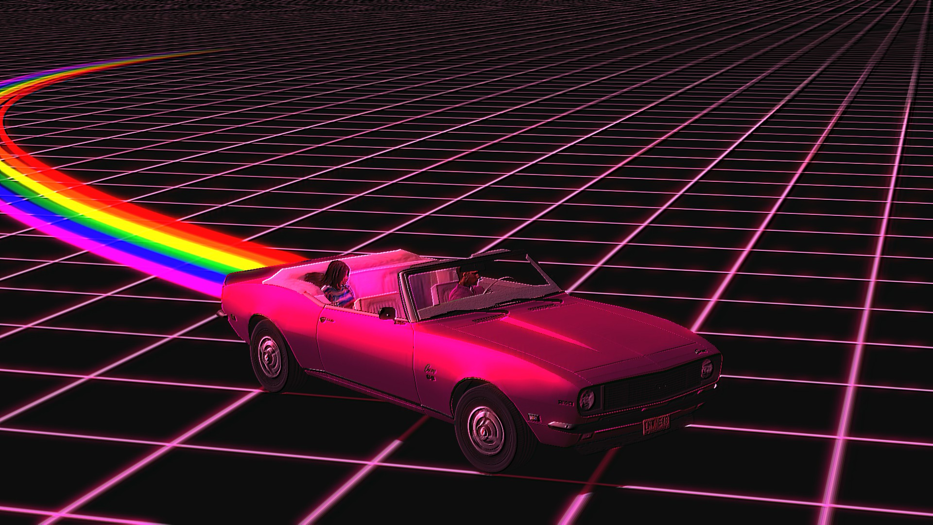 Retro Wave HD Wallpaper   Background Image   1920x1080   ID:829970 - Wallpaper Abyss