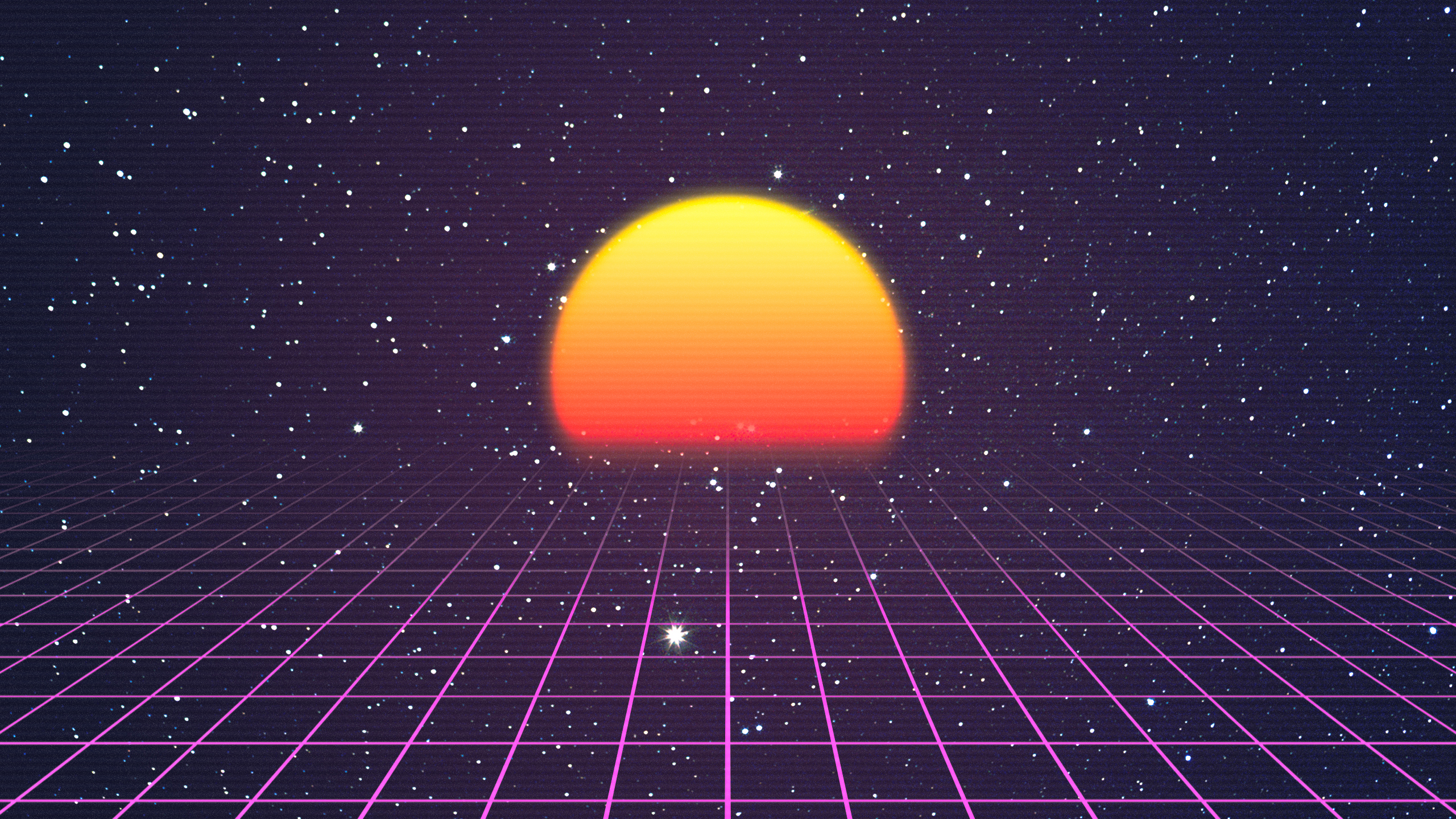 Retro Wave Full Hd Wallpaper And Background Image