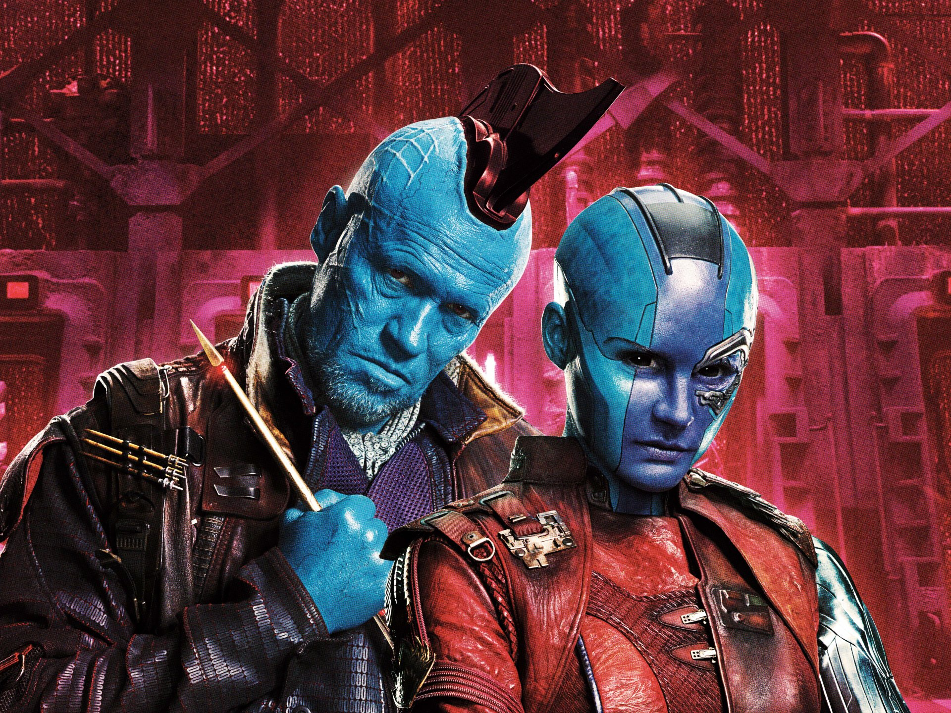 Movie - Guardians of the Galaxy Vol. 2  Karen Gillan Michael Rooker Nebula (Marvel Comics) Yondu Udonta Wallpaper