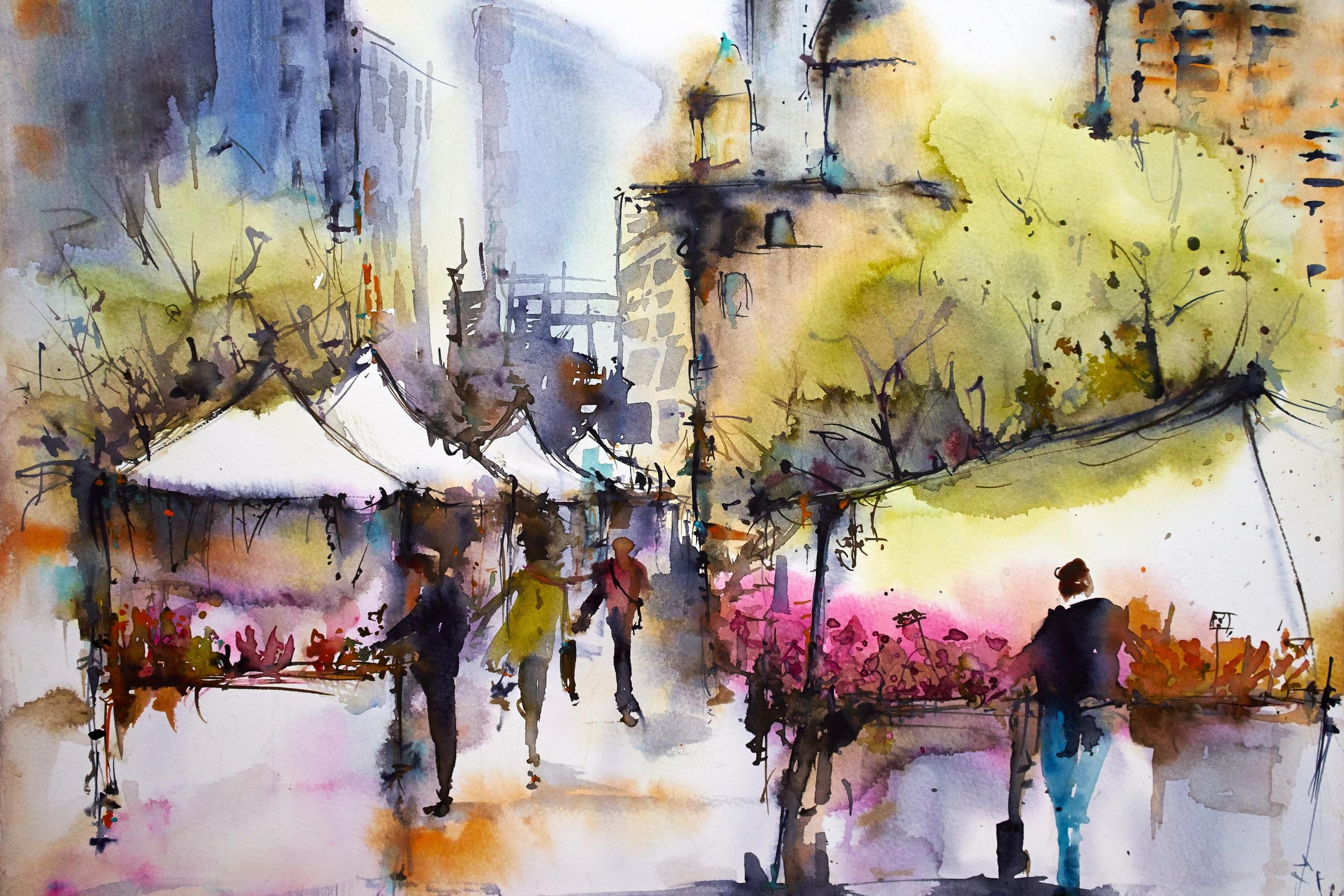 画_WatercolorHDWallpaper|BackgroundImage|2560x1707|ID:830408-WallpaperAbyss