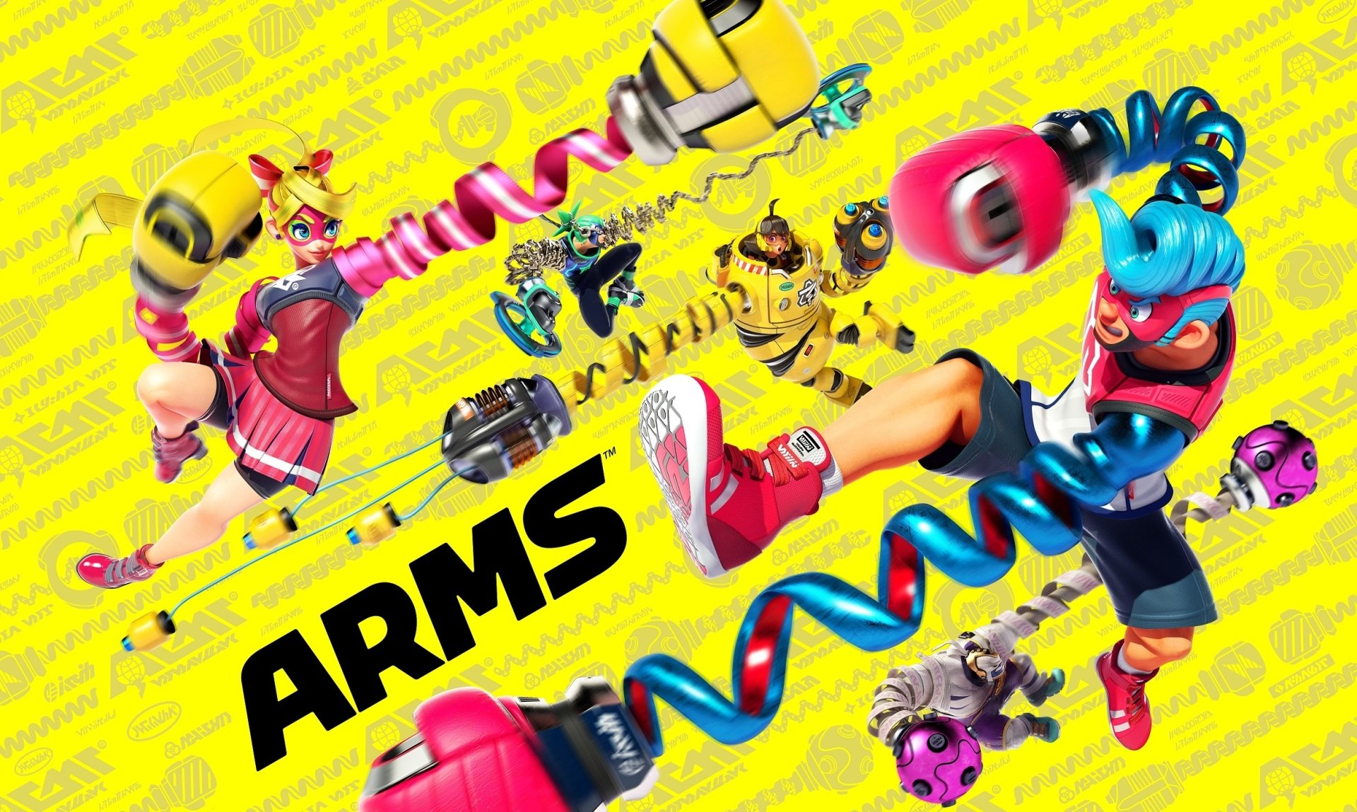 Video Game - Arms  Master Mummy (Arms) Mechanica (Arms) Ribbon Girl (Arms) Spring Man (Arms) Ninjara (Arms) Wallpaper