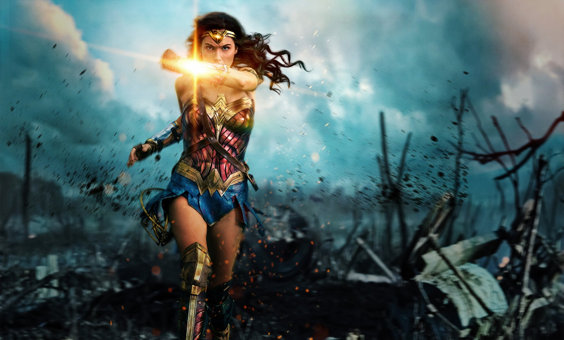 Movie - Wonder Woman  Gal Gadot Movie DC Comics Diana of Themyscira Superhero Wallpaper
