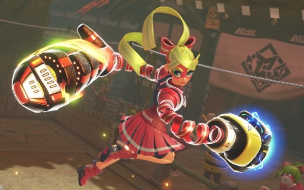 Video Game Arms Ribbon Girl HD Wallpaper | Background Image