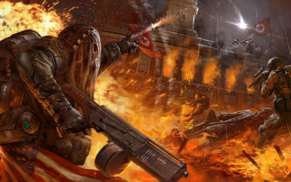 Video Game Homefront: The Revolution Soldier Explosion Fire Battle Weapon HD Wallpaper   Background Image