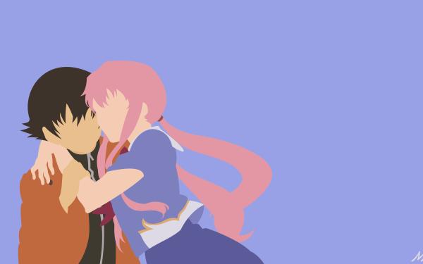 Anime Mirai Nikki Yuno Gasai Yukiteru Amano HD Wallpaper   Background Image