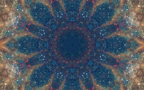 Abstract Pattern Artistic Manipulation Digital Art Mandala Space Galaxy Blue Brown HD Wallpaper | Background Image