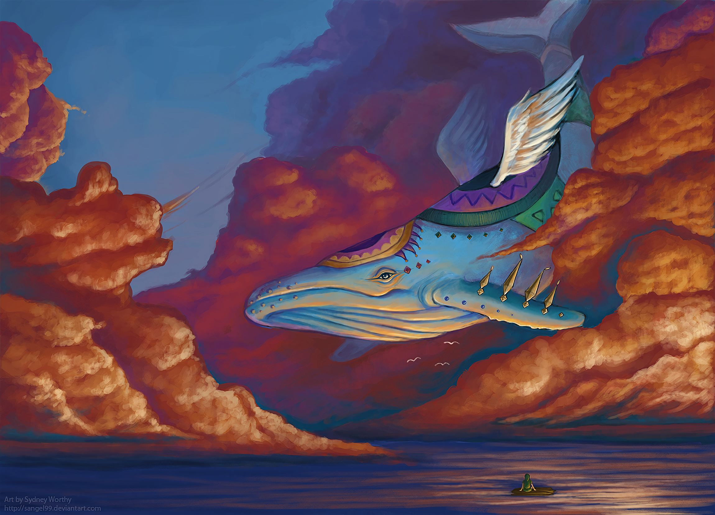 Link and the Wind Fish HD Wallpaper | Background Image ...