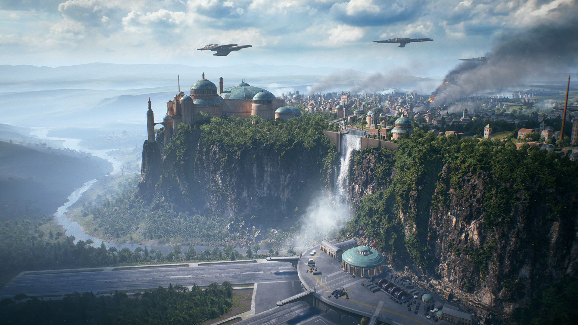 Aerial View Of The Fictional Planet Naboo 4k Ultra Fondo De