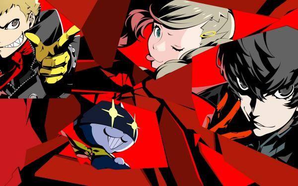 Video Game Persona 5 Persona Akira Kurusu Morgana Ryuji Sakamoto Ann Takamaki HD Wallpaper | Background Image