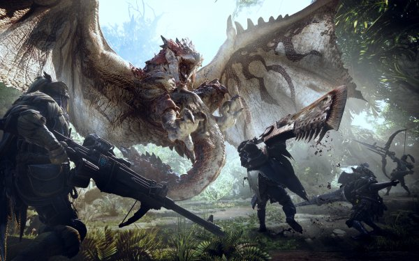 Video Game Monster Hunter: World Rathalos Dragon Hunter HD Wallpaper | Background Image