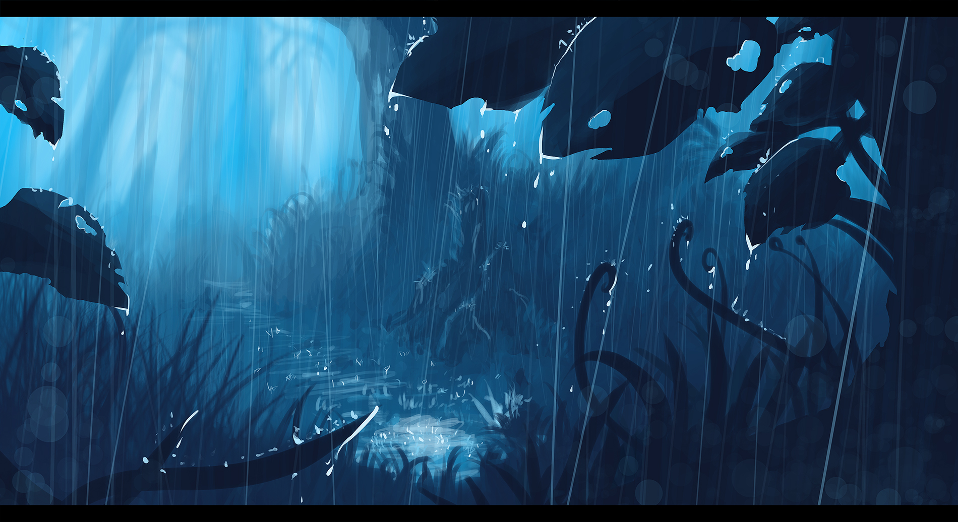 Original wallpaper and background image 1900x1036 id - Anime rain wallpaper ...