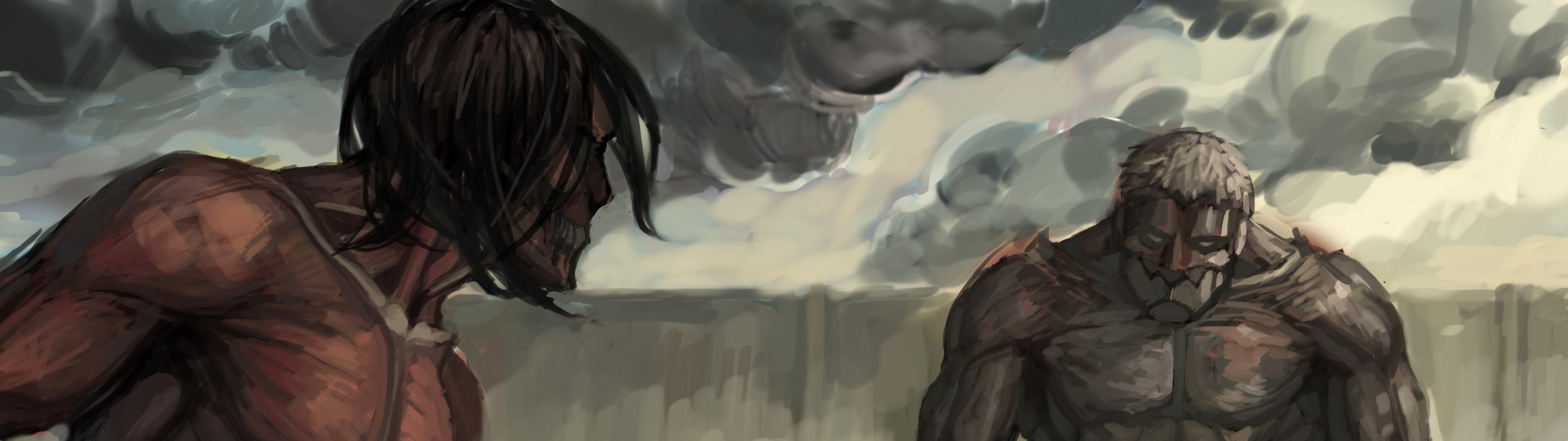 Attack On Titan Hd Wallpaper Background Image 3840x1080 Id