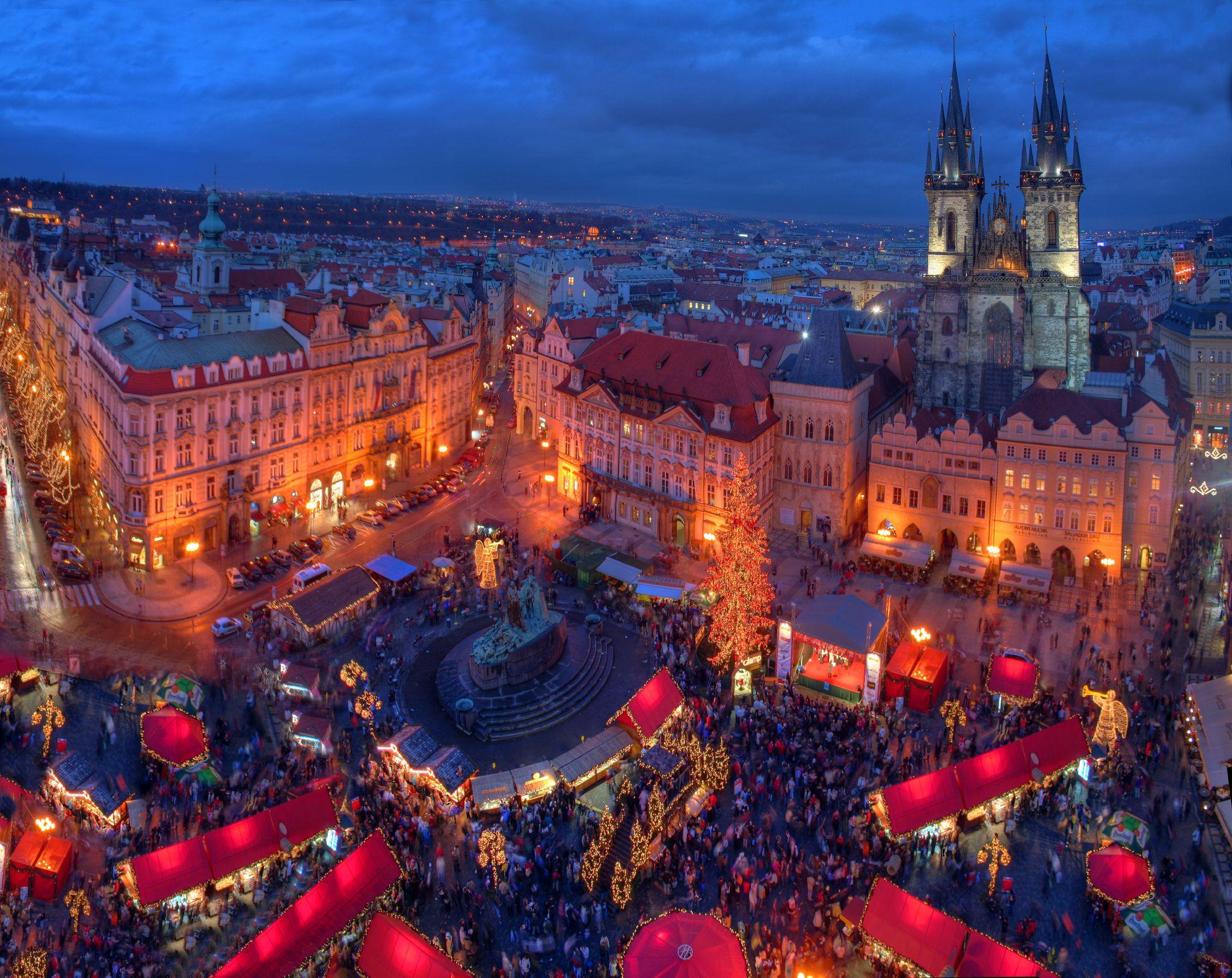 Christmas In Europe Wallpaper.Christmas Market In Prague Hd Wallpaper Background Image