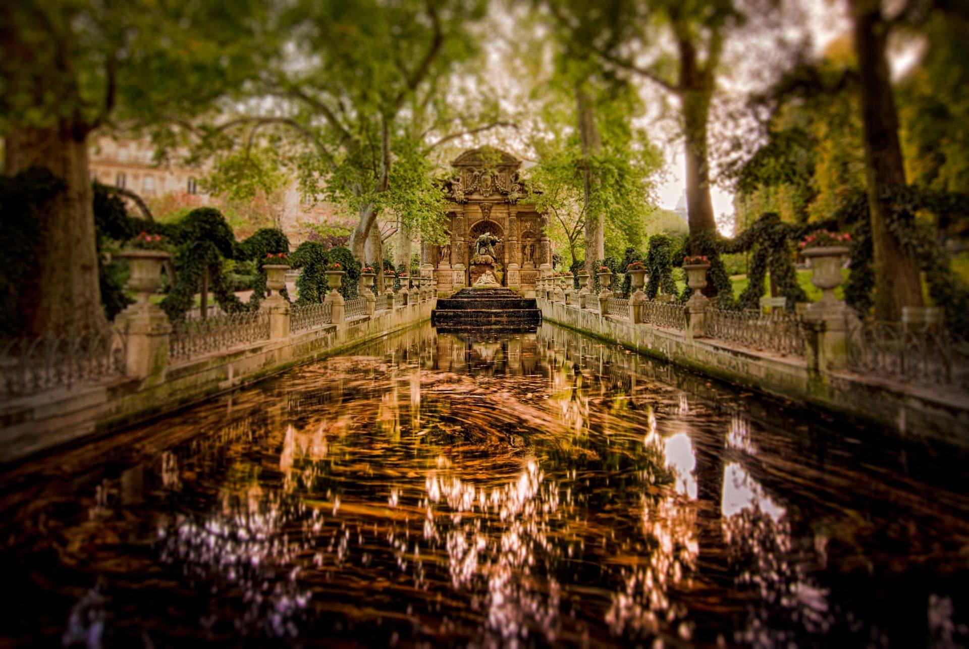 Man Made - Fountain  Medici Fountain Paris Park Water Wallpaper