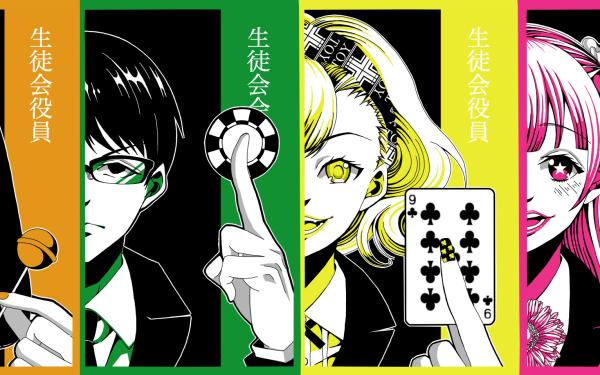 Anime Kakegurui Kirari Momobami Runa Yomozuki Yumeko Jabami HD Wallpaper | Background Image