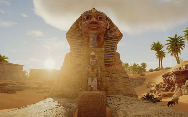 Video Game Assassin's Creed Origins Assassin's Creed Sphinx Statue Desert HD Wallpaper | Background Image