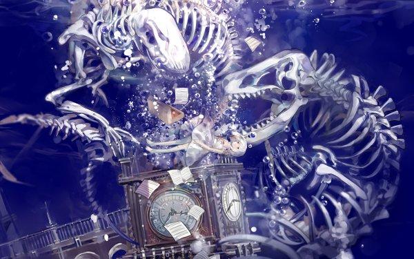 Anime Original Bubble Water Bones HD Wallpaper | Background Image