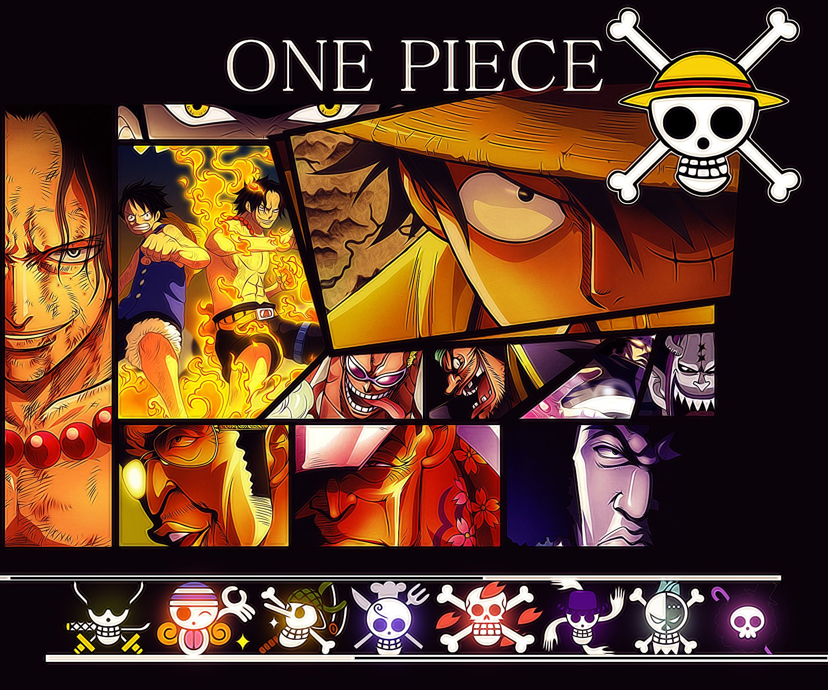Anime - One Piece  Portgas D. Ace Gekko Moriah Marshall D. Teach Monkey D. Luffy Donquixote Doflamingo Bartholomew Kuma Papel de Parede