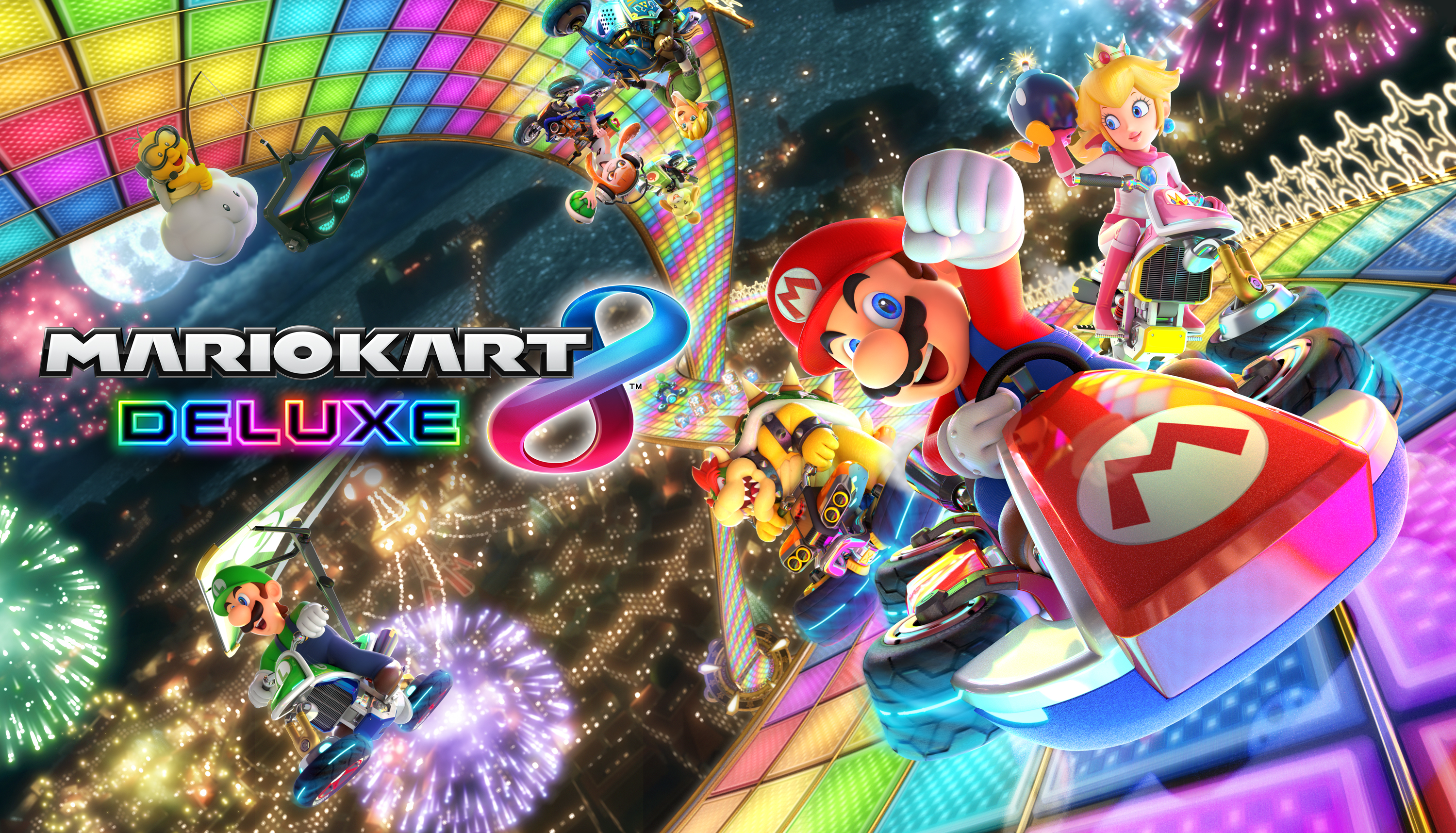 Mario Kart 8 Background: Mario Kart 8 Deluxe HD Wallpaper