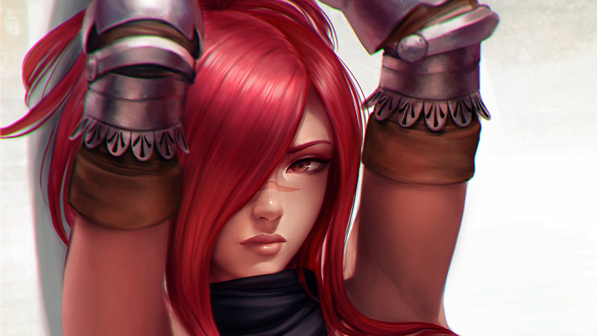 Anime - Fairy Tail  Fantasy Woman Girl Face Red Hair Erza Scarlet Wallpaper
