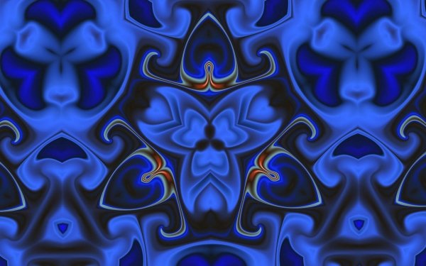 Abstract Blue Artistic Generative Shapes HD Wallpaper | Background Image