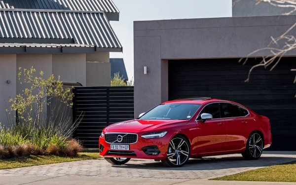 Vehicles Volvo S90 Volvo Car Red Car Luxury Car HD Wallpaper | Background Image