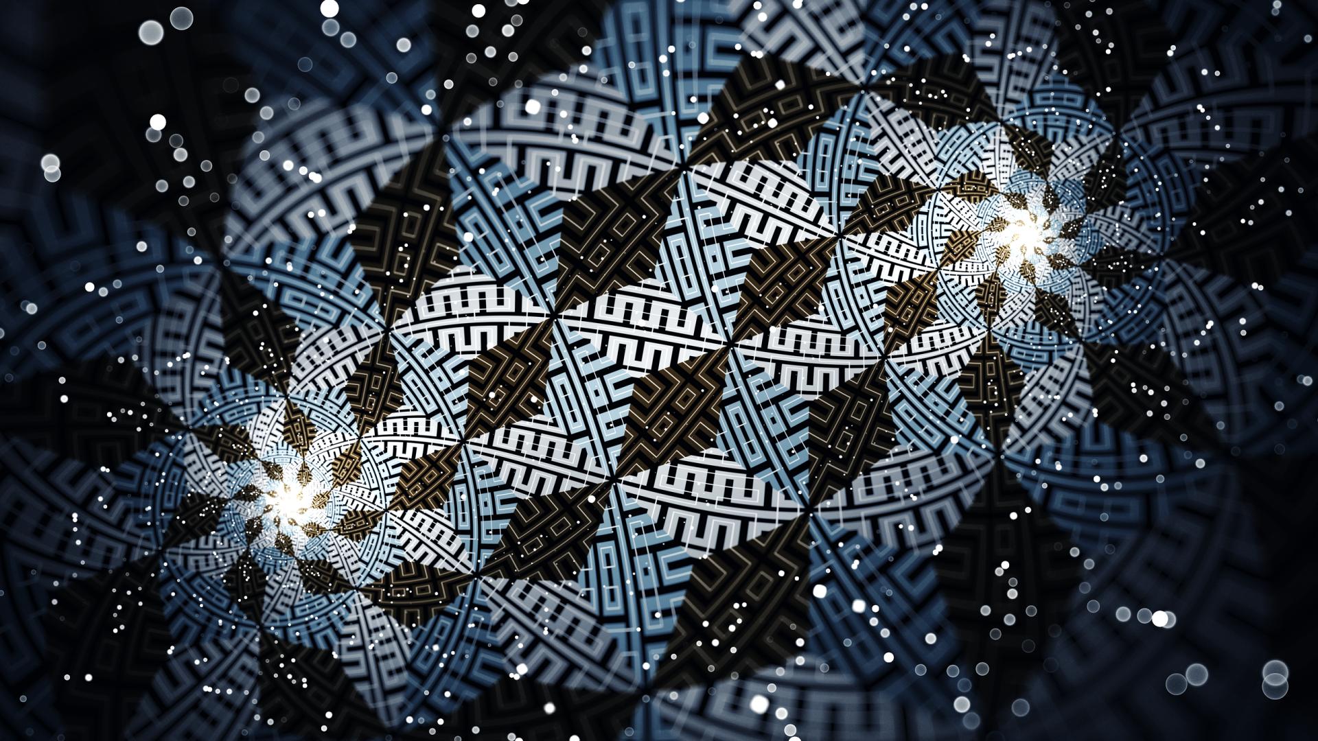 Abstract - Fractal  Artistic Pattern Spiral Wallpaper