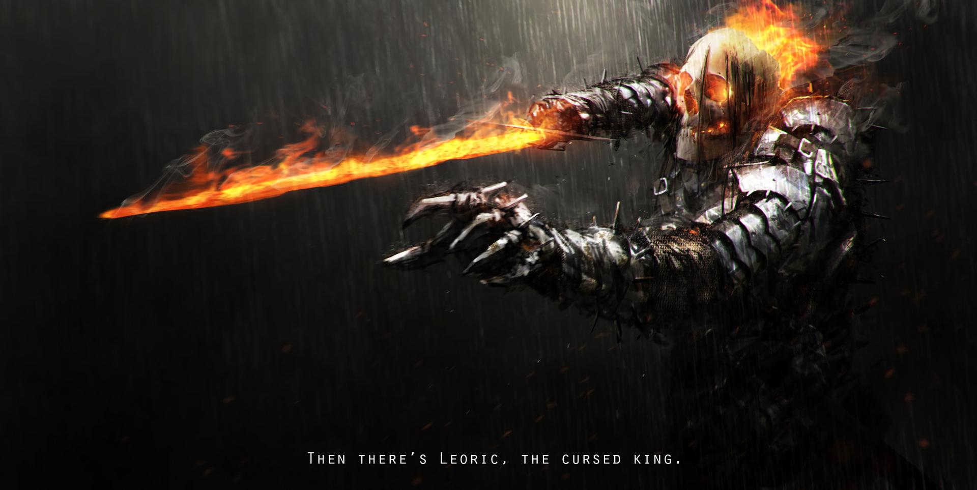 Fantasy - Knight  Skull Undead Fantasy Sword Armor Warrior Rain Wallpaper