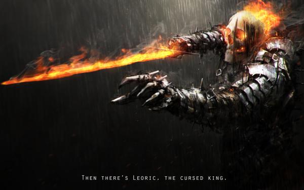 Fantasy Knight Undead Skull Sword Armor Warrior Rain HD Wallpaper | Background Image