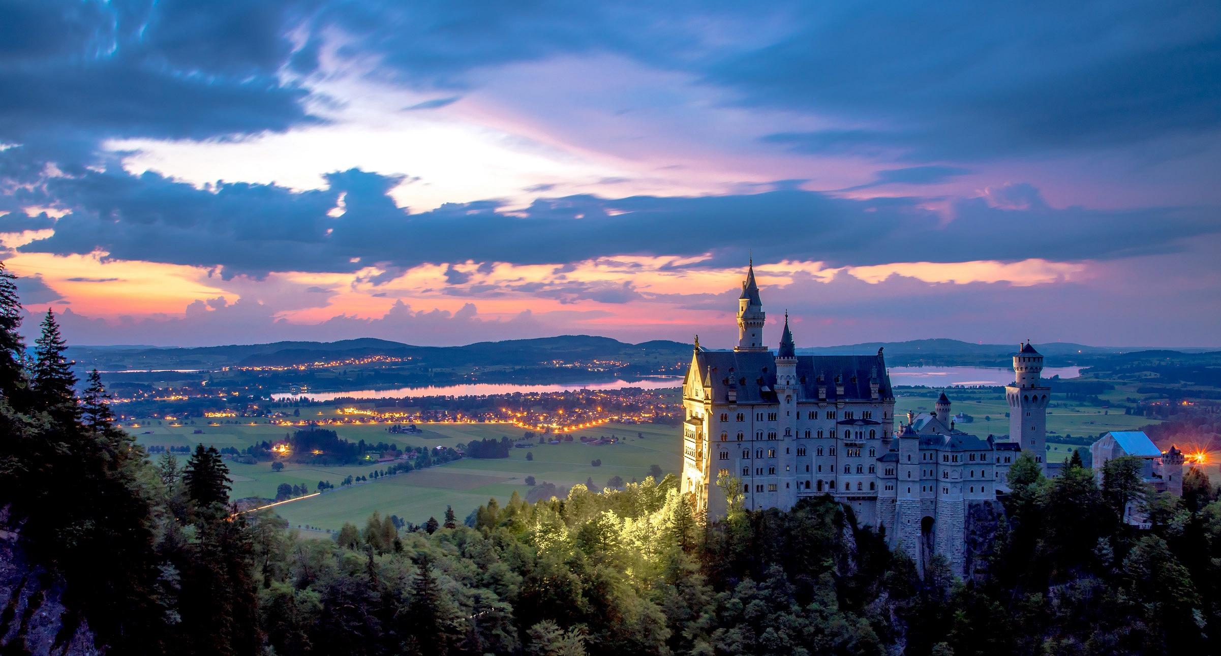 архитектура страны Замок Нойшванштайн Швангау Германия  № 2231472  скачать