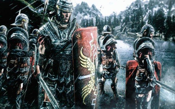 Fantaisie Guerrier(ère) Roman Legionary Pluie Shield Epée Armor Fond d'écran HD   Image