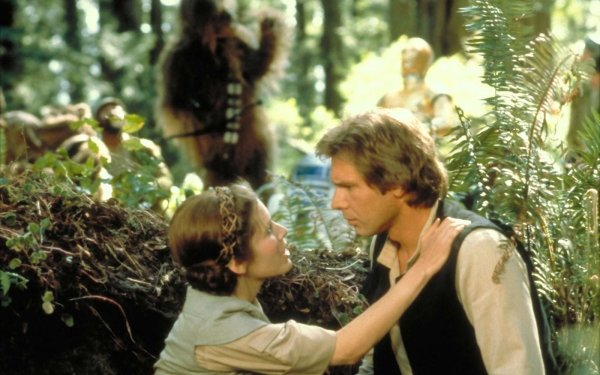 Movie Star Wars Episode VI: Return Of The Jedi  Star Wars Leia Organa Han Solo Chewbacca Carrie Fisher Harrison Ford Princess Leia HD Wallpaper | Background Image
