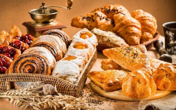 Food Breakfast Croissant Viennoiserie HD Wallpaper | Background Image
