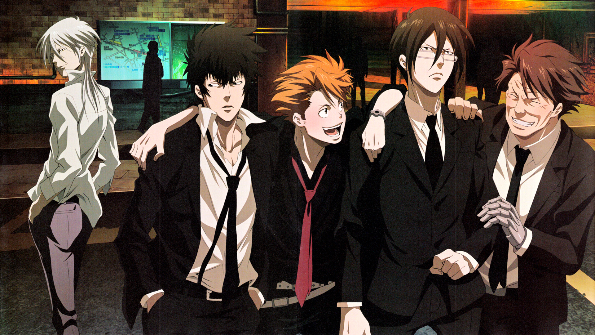 Psycho Pass Main Members Hd Wallpaper Background Image