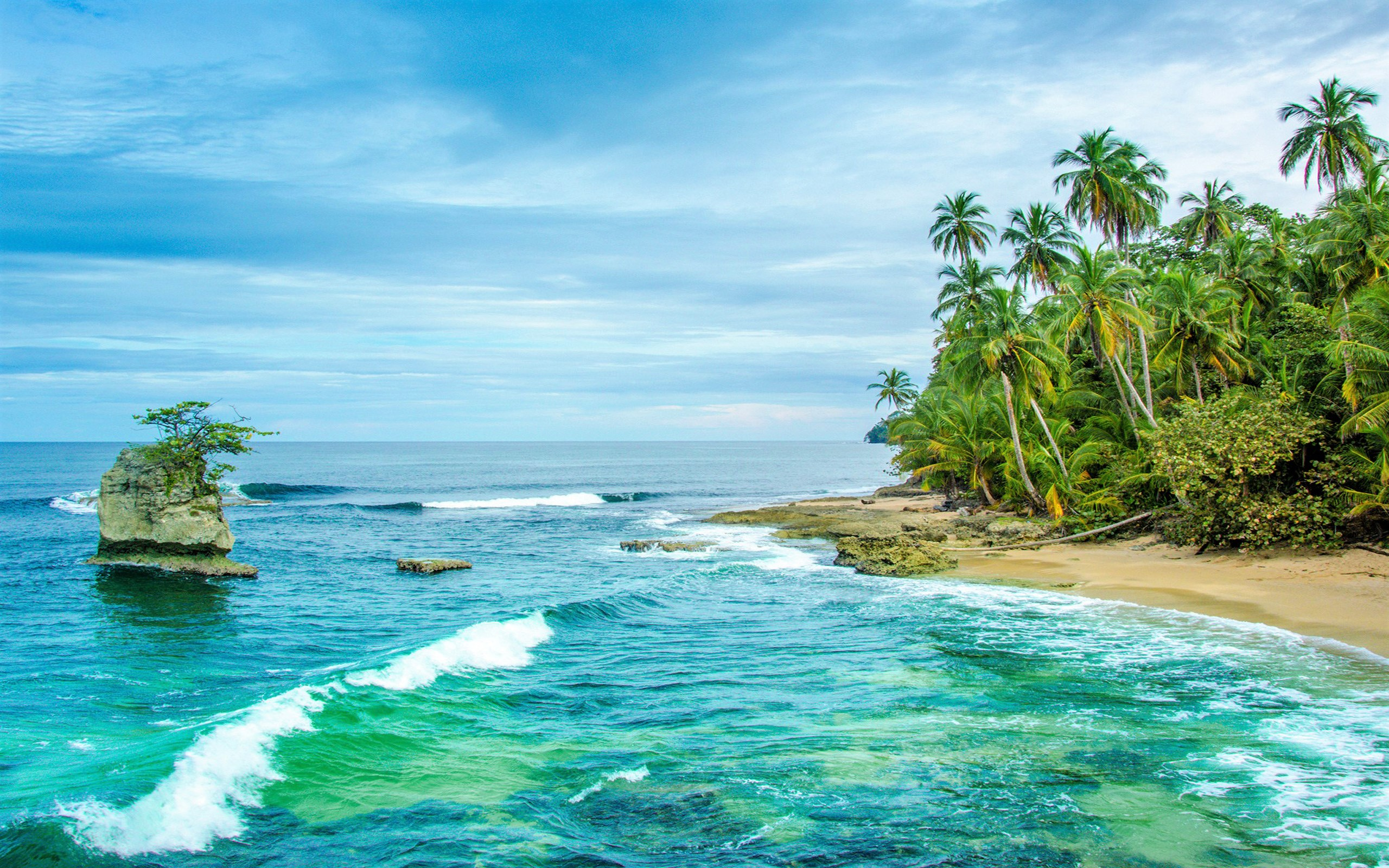 Costa Rican Beach Full HD Wallpaper And Background Image