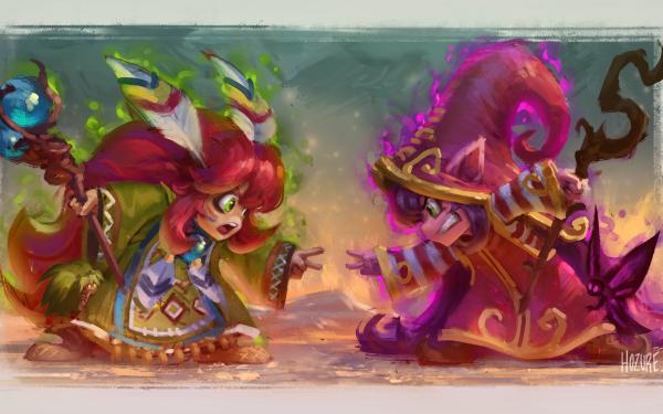 Video Game League Of Legends Poppy Lulu HD Wallpaper | Background Image