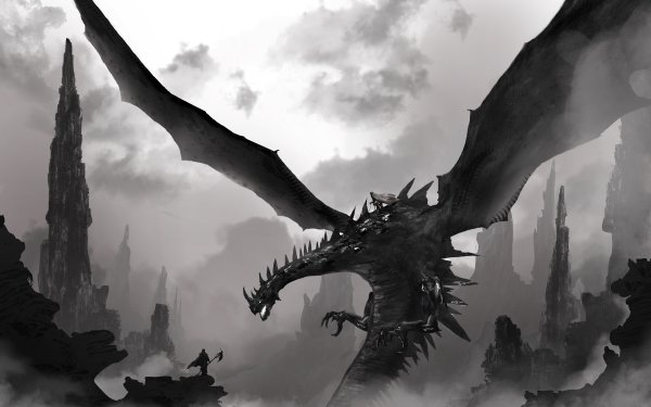 Fantasy Dragon Warrior HD Wallpaper   Background Image