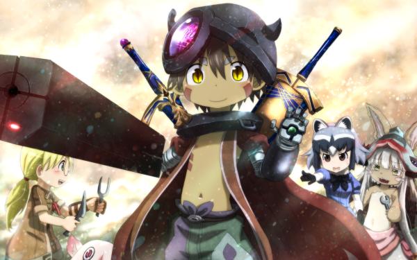Anime Crossover Kemono Friends Raccoon Made in Abyss Mitty Nanachi Riko Regu HD Wallpaper | Background Image
