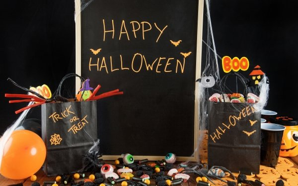 Holiday Halloween Happy Halloween Candy Sweets HD Wallpaper   Background Image