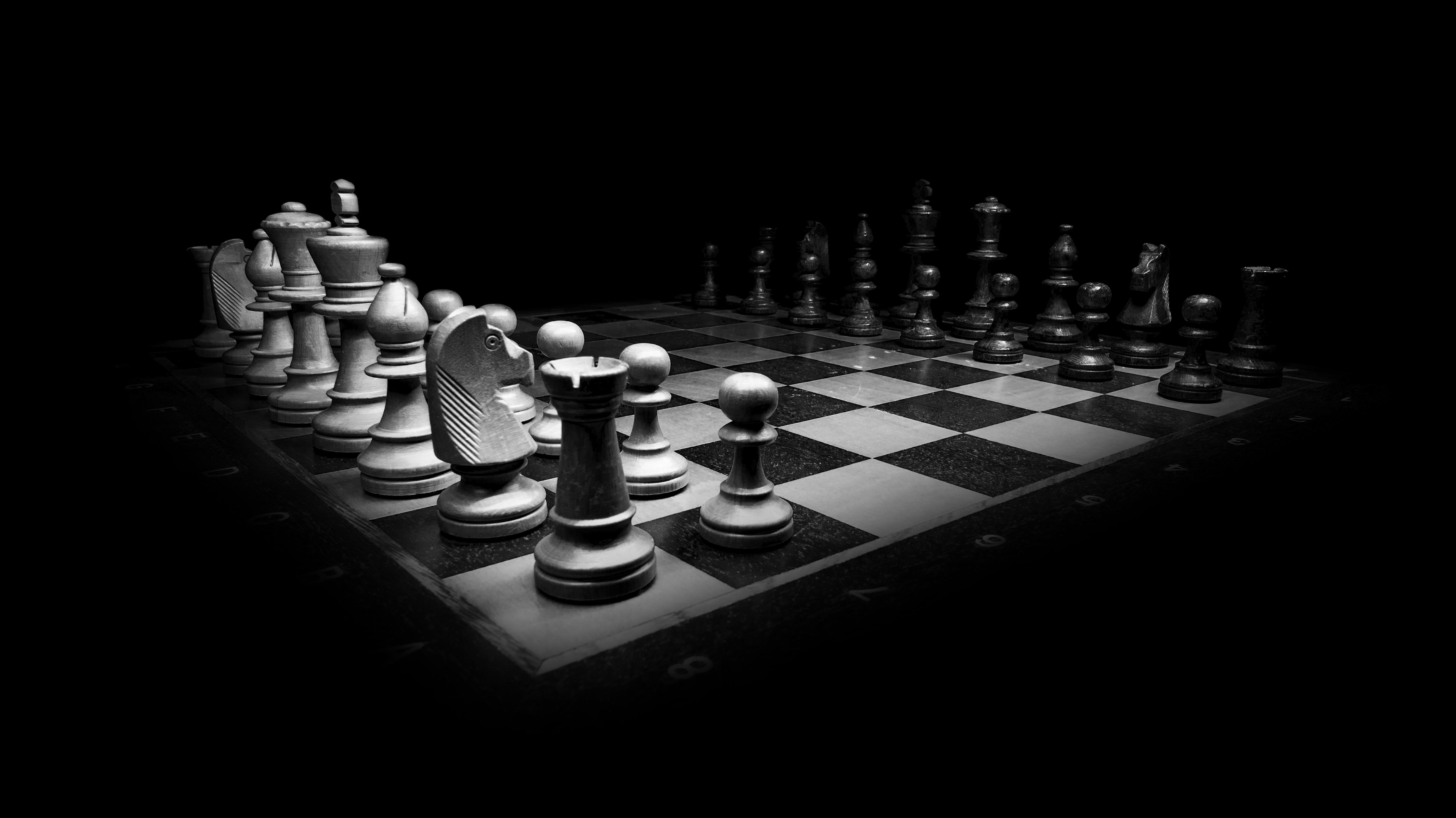 Chess Board And Pieces 4k Ultra Papel De Parede Hd Plano De