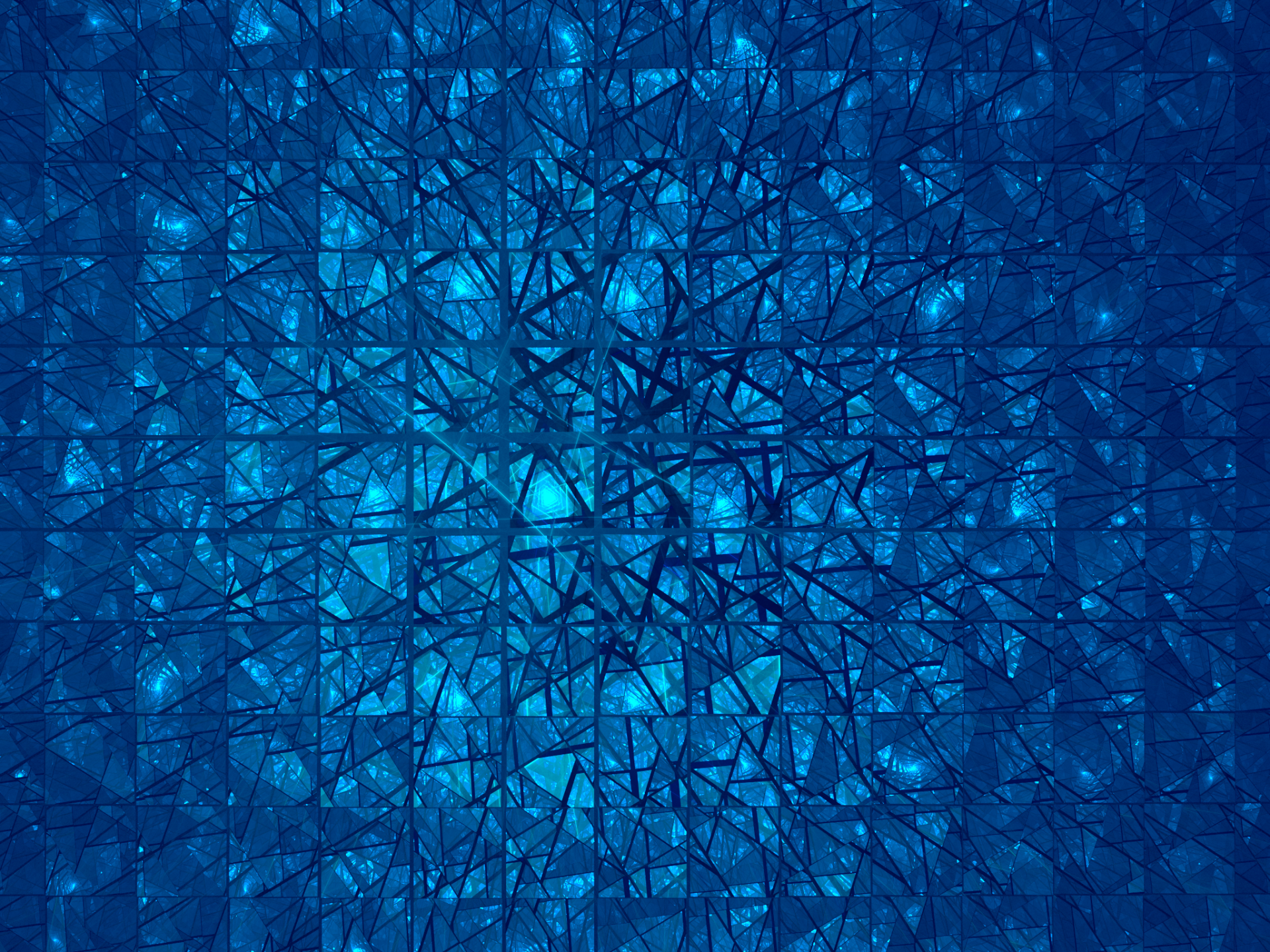 Abstract - Fractal  Abstract Apophysis (software) Blue Cracks Glass Geometry Triangle Wallpaper