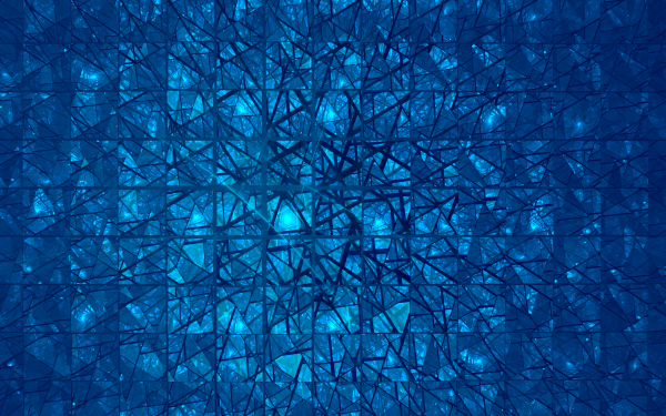 Abstract Fractal Apophysis Blue Cracks Glass Geometry Triangle HD Wallpaper | Background Image