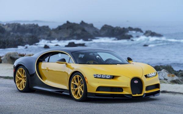 Fahrzeuge Bugatti Chiron Bugatti Supercar Sport Car Yellow Car Autos HD Wallpaper | Hintergrund