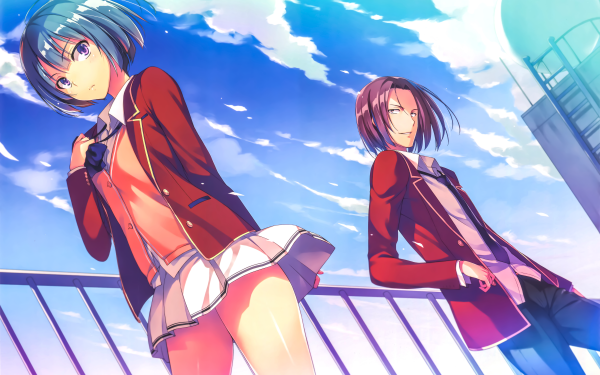Anime Classroom of the Elite Mio Ibuki Kakeru Ryūen HD Wallpaper | Background Image