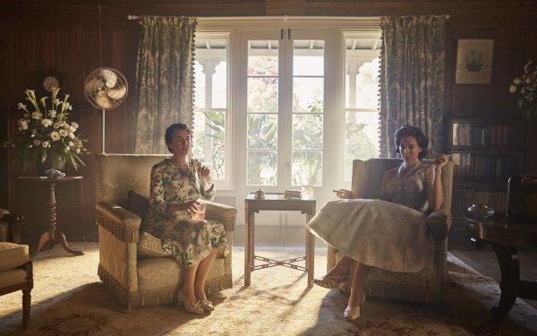 TV Show The Crown Queen Elizabeth Victoria Hamilton Princess Margaret Vanessa Kirby HD Wallpaper | Background Image