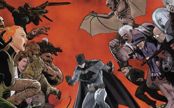 Comics Batman DC Comics Poison Ivy Harvey Dent Clayface Joker Riddler Solomon Grundy Mr. Freeze Killer Croc Man-Bat HD Wallpaper | Background Image