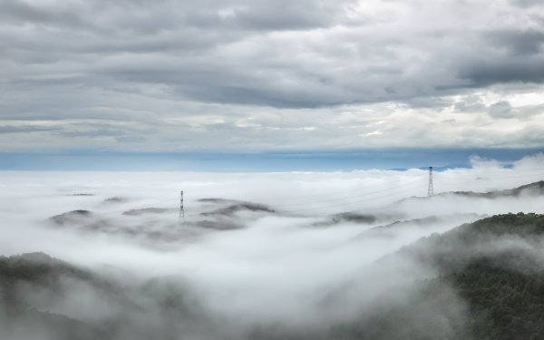 Earth Fog Horizon Landscape Cloud Power Line HD Wallpaper | Background Image